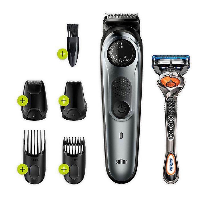 Alternate image 1 for Braun® BT7220 Beard & Hair Trimmer in Black/Green