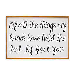 """NoJo® """"Of All the Things..."""" Framed Wall Art in White"""