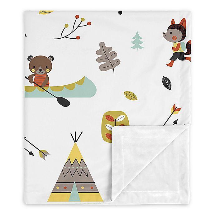 Alternate image 1 for Sweet Jojo Designs Outdoor Adventure Security Blanket in Aqua/Yellow