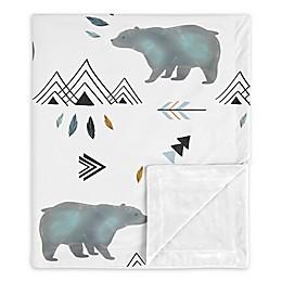 Sweet Jojo Designs Bear Mountain Security Blanket in Blue/White