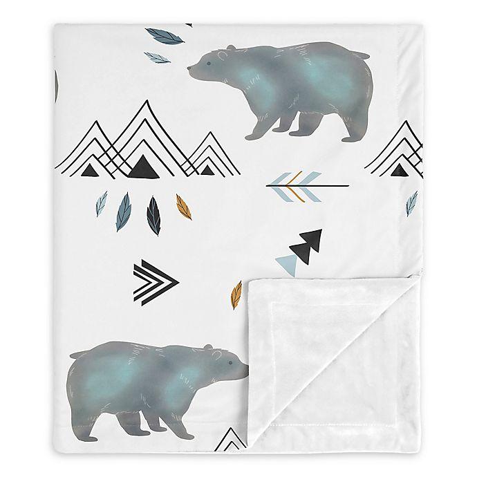 Alternate image 1 for Sweet Jojo Designs Bear Mountain Security Blanket in Blue/White
