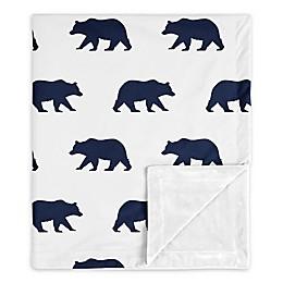 Sweet Jojo Designs Big Bear Security Blanket in Navy/White