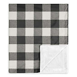 Sweet Jojo Designs Buffalo Check Security Blanket in Black/White