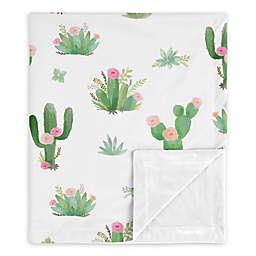 Sweet Jojo Designs Cactus Floral Security Blanket in Pink/Green
