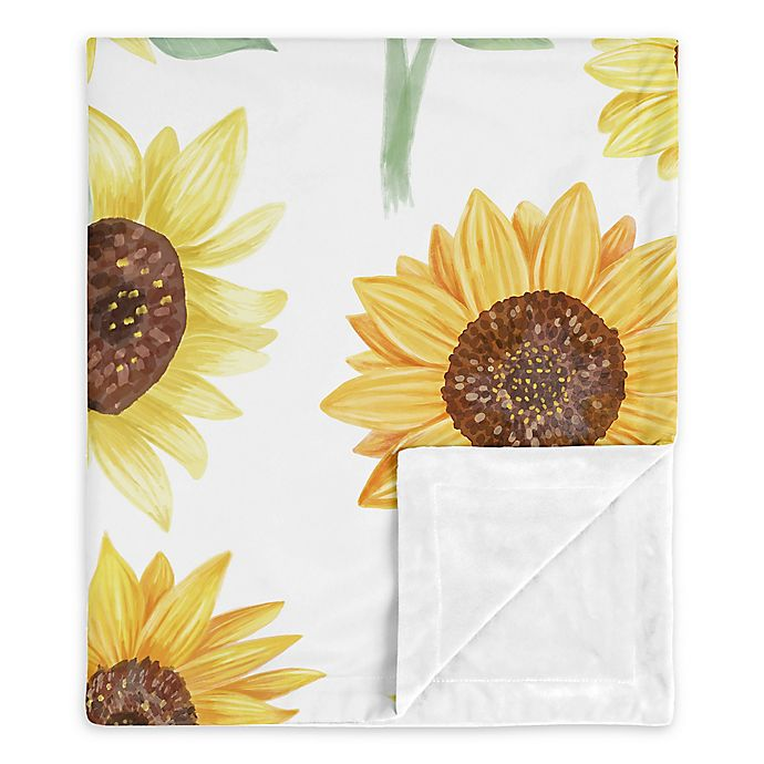 Alternate image 1 for Sweet Jojo Designs Sunflower Security Blanket in Yellow/Orange