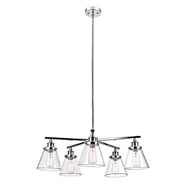 Globe Electric Jackson 5-Light Chandelier in Chrome
