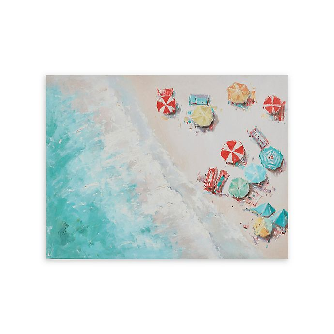 Alternate image 1 for Urban Habitat Aerial Beach Printed 28-Inch x 22-Inch Canvas Wall Art with Gel Coat in Multi