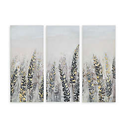 Madison Park Emmer Fields Printed 15-Inch x 35-Inch Wall Art with Gold Foil in Multi (Set of 3)