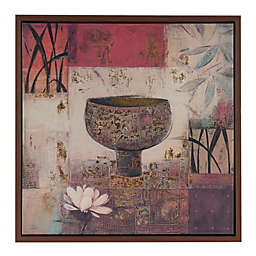 Madison Park Tranquil Composition Framed 25.8-Inch x 25.8-Inch Wall Art with Gold Foil in Multi