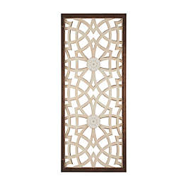 Madison Park Damask Wood Carved 15.75-Inch x 37.75-Inch Wall Panel in Wood
