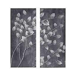Madison Park Grey Branches Print on Wood 15-Inch x 35-Inch Wall Art in Reclaimed Grey (Set of 2)