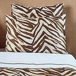 Frette At Home Piave 200-Thread-Count California King Sheet Set in White/Caramel