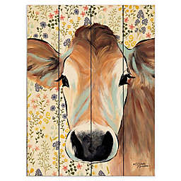Courtside Market® Bluebell Cow Wood Pallet Wall Art