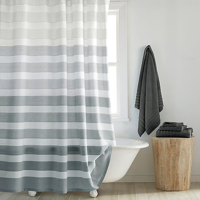 Alternate image 1 for DKNY Highline Stripe Shower Curtain Collection