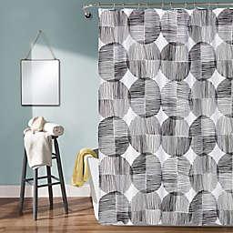 Creative Bath™ Metro Circles Shower Curtain in Black/White