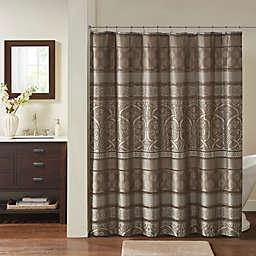 Madison Park Essentials Shower Curtain in Brown