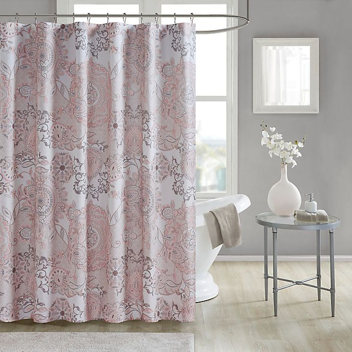 Alternate image 1 for Madison Park Shower Curtain in Blush