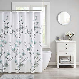 Madison Park Shower Curtain in Aqua