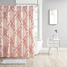 Intelligent Design Kacie Tufted Diamond Ruffle Shower Curtain