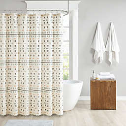Urban Habitat Auden Cotton Jacquard Shower Curtain