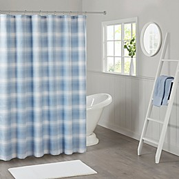 Madison Park Sade Ombre Waffle Weave Shower Curtain