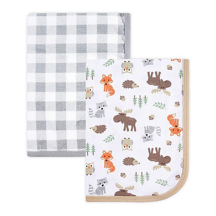 Alternate image 1 for Hudson Baby® 2-Pack Muslin Swaddle Blankets