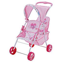 Hauk Love Heart Twin Baby Doll Canopy Stroller