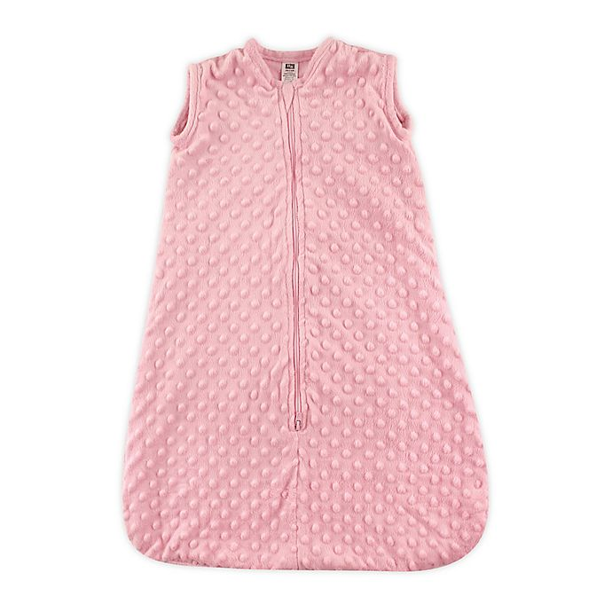 Alternate image 1 for Hudson Baby® Size 12-18M Dotted Plush Sleeping Bag in Pink