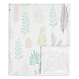 Sweet Jojo Designs Sloth Leaf Security Blanket in Pink/Grey