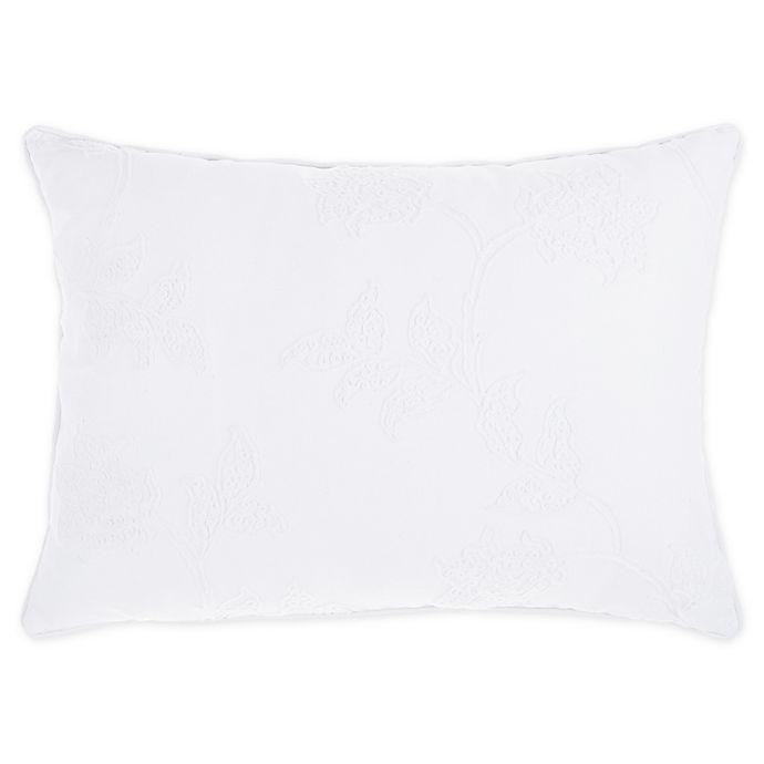 Alternate image 1 for Wamsutta® Norwich Oblong Throw Pillow in White