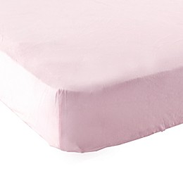 Luvable Friends® Knitted Cotton Portable Crib Fitted Sheet in Pink