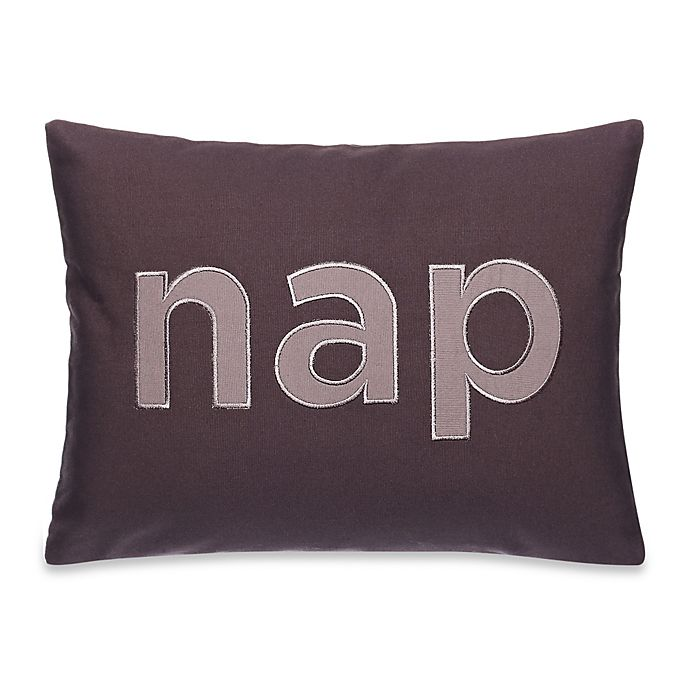 Alternate image 1 for Kenneth Cole Reaction Home Mineral Nap Oblong Throw Pillow in Gunmetal