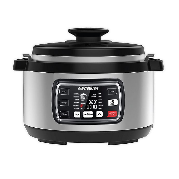 Alternate image 1 for GoWISE USA® Ovate 8.5 qt. Electric Pressure Cooker with Accessories