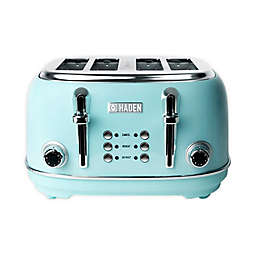 Haden Heritage Wide Slot 4-Slice Toaster in Turquoise