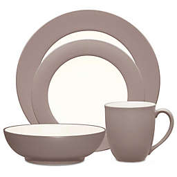 Noritake® Colorwave Rim 4-Piece Place Setting in Chocolate
