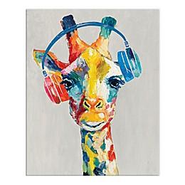 Painted Musical Giraffe 16x20 Canvas Wall Art