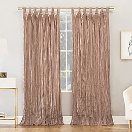 No.918® Odelia Distressed Velvet Semi-Sheer Tab Top Window Curtain Panel