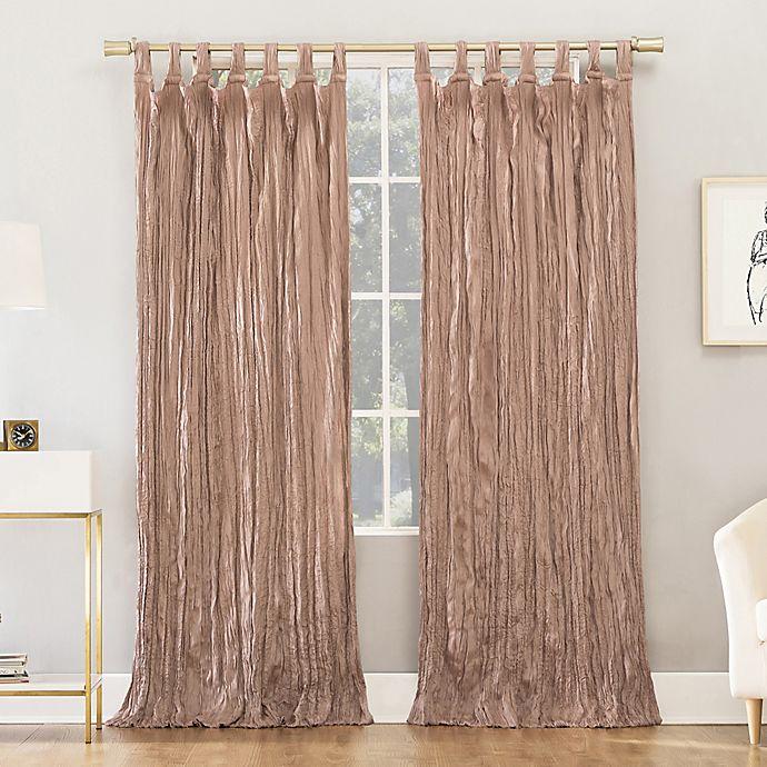 Alternate image 1 for No.918® Odelia Distressed Velvet Semi-Sheer Tab Top Window Curtain Panel (Single)