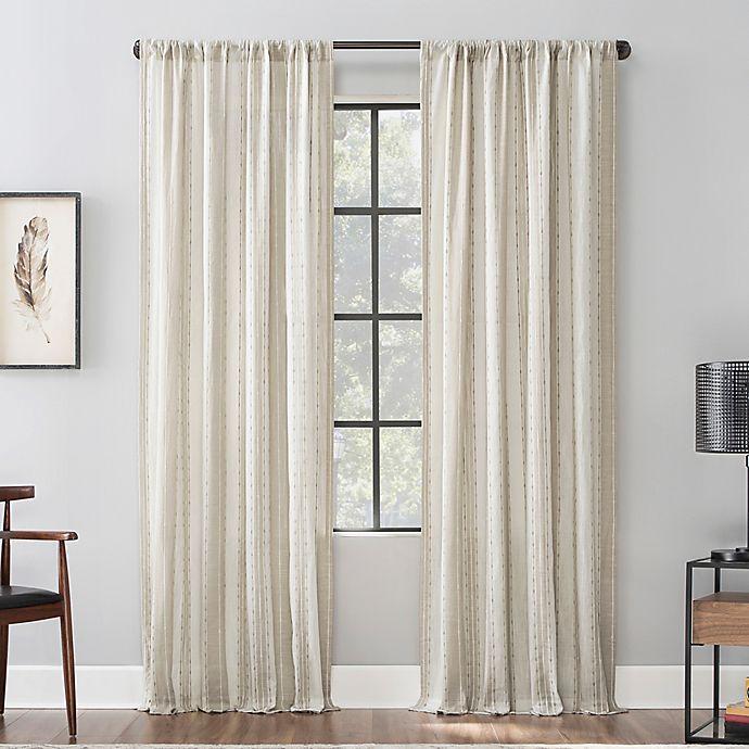 Alternate image 1 for Archaeo® Slub Texture Stripe Cotton Window Curtain (Single)