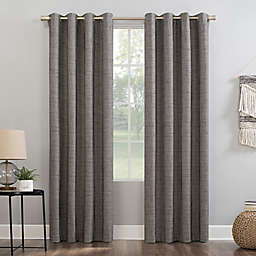 Sun Zero® Kline 84-Inch Grommet Window Curtain Panel in Mushroom (Single)