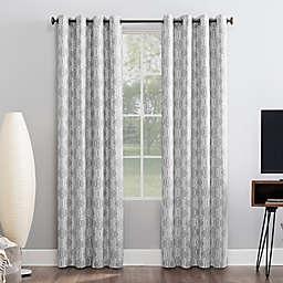 Sun Zero® Infinity Geometric Theater Grade Extreme Total Blackout Grommet Window Curtain Panel
