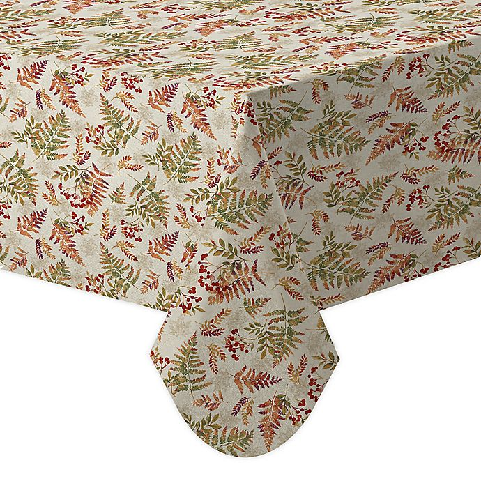 Alternate image 1 for Harvest Fern 60-Inch x 84-Inch Oblong Tablecloth