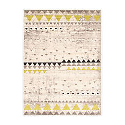 ECARPETGALLERY Remi 7'10 x 10'2 Indoor/Outdoor Area Rug in Ivory/Green