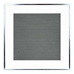Prinz 16-Inch Square Framed Letterboard in White/Grey