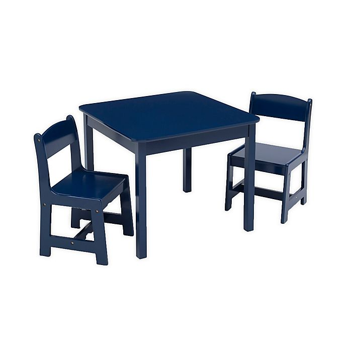 Alternate image 1 for Delta Children® MySize 3-Piece Table and Chairs Set in Deep Blue