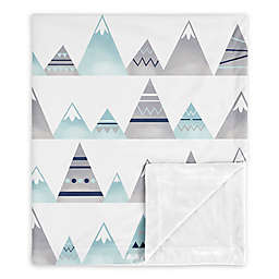 Sweet Jojo Designs Mountains Baby Blanket in Grey/Aqua