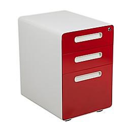 Flash Furniture Ergonomic 3-Drawer Mobile Filing Cabinet