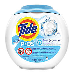 Tide® PODS™ 42-Count Free & Gentle Liquid Laundry Detergent Pacs