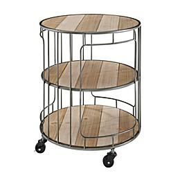 Keach 3-Tier Rolling Cart in Grey
