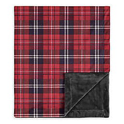 Sweet Jojo Designs Rustic Patch Plaid Swaddle Blanket in Red/Black